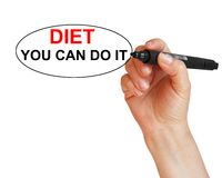 Diet You can do it Royalty Free Stock Photography