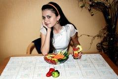 Dieta adolescente Fotografia Stock