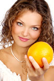 Dieta arancione Immagini Stock Libere da Diritti