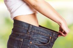 Dieta bem sucedida do corpo magro do emagrecimento da cintura Imagens de Stock