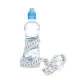 Dieta ciężaru straty składu butelka woda pitna Fotografia Royalty Free
