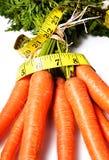 Dieta com cenoura Imagens de Stock Royalty Free
