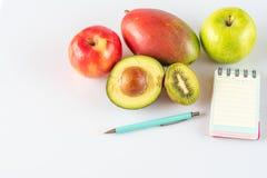 Dieta com frutos tropicais imagens de stock