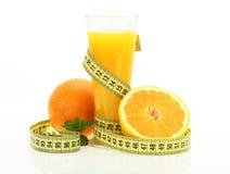 Dieta com suco do orenge Imagens de Stock Royalty Free