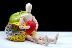 Dieta con frutta sana Fotografia Stock