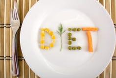 Dieta conceptual Fotografía de archivo libre de regalías