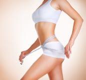 Dieta. Corpo magro perfeito Foto de Stock Royalty Free