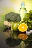 Dieta da aptidão e conceito das vitaminas Fotografia de Stock Royalty Free
