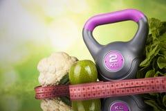 Dieta da aptidão e conceito das vitaminas Imagem de Stock