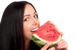 Dieta da melancia Fotografia de Stock