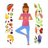 Dieta da mulher gravida Imagens de Stock Royalty Free