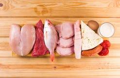 Dieta da proteína Imagem de Stock
