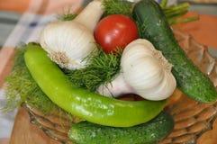 Dieta da variedade dos legumes frescos bio Foto de Stock Royalty Free