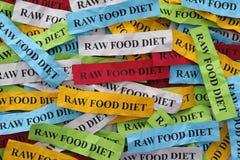 dieta de alimento crua Foto de Stock
