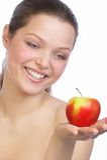 Dieta de Apple. imagens de stock royalty free
