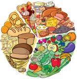 Dieta de la proteína-carbohidrato Fotografía de archivo libre de regalías