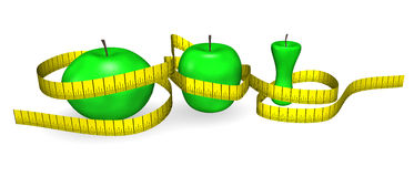 Dieta de las manzanas Imágenes de archivo libres de regalías