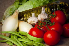 Dieta de Mediterraen Fotos de Stock