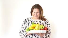 Dieta de recomendación del doctor a una mujer gorda metrajes
