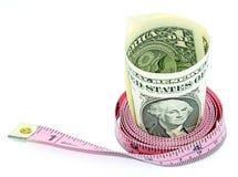 Dieta dei soldi immagine stock
