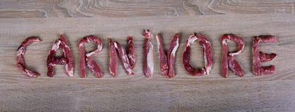 Dieta del carnívoro, carburador cero, comida sana imagenes de archivo
