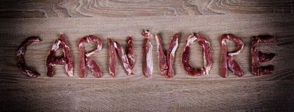 Dieta del carnívoro, carburador cero, comida sana imagen de archivo libre de regalías