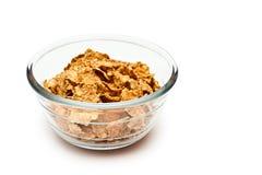 Dieta del cereal en un cuenco transparente Imagen de archivo
