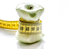 Dieta del concepto y pérdida de peso en el fondo blanco foto de archivo libre de regalías