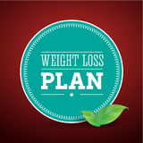 Dieta del plan de la pérdida de peso Imágenes de archivo libres de regalías