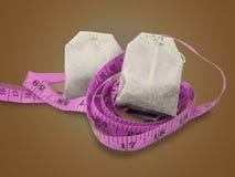 Dieta del tè di erbe Fotografia Stock