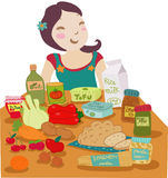 Dieta del Vegan immagini stock libere da diritti
