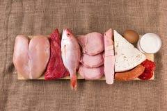 Dieta della proteina Fotografia Stock