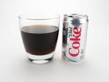 Dieta della soda su bianco Fotografia Stock Libera da Diritti