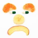 Dieta delle pillole della frutta Fotografie Stock Libere da Diritti