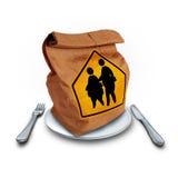 Dieta di obesità della scuola Fotografia Stock