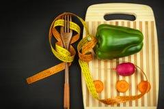 Dieta di verdure rigorosa Alimento grezzo Alimento vegetariano Il concetto dello stile di vita di dieta fotografia stock