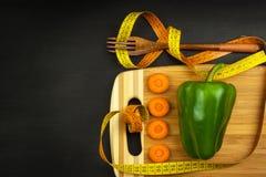 Dieta di verdure rigorosa Alimento grezzo Alimento vegetariano Il concetto dello stile di vita di dieta fotografia stock libera da diritti