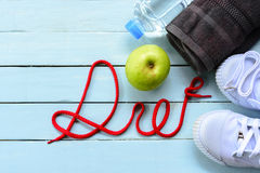 Dieta do conceito ou saúde do conceito, objeto do fundo para a dieta Fotografia de Stock