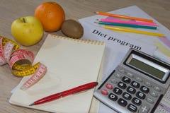 Dieta do conceito Perca o peso comendo o fruto saudável Dieta do fruto Foto de Stock Royalty Free