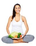 Dieta do vegetariano imagem de stock