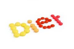 Dieta dos comprimidos Imagens de Stock Royalty Free