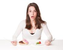 Dieta dylemat Zdjęcia Royalty Free
