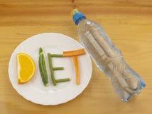 Dieta e água cristal pura Fotos de Stock Royalty Free