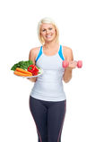 Dieta e exercício imagens de stock