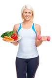 Dieta e exercício foto de stock