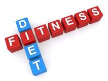Dieta e forma fisica Immagini Stock