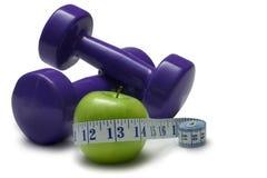 Dieta ed esercitazione Fotografia Stock Libera da Diritti