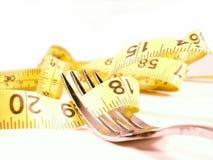 Dieta em uma forquilha 2 Foto de Stock Royalty Free