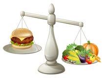 Dieta equilibrada de la consumición sana stock de ilustración