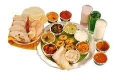 Dieta equilibrada india Imagen de archivo libre de regalías